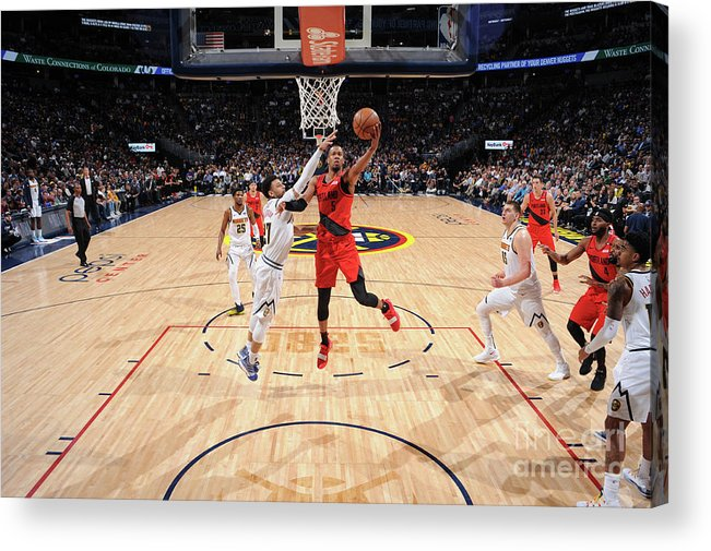 Playoffs Acrylic Print featuring the photograph Rodney Hood by Bart Young
