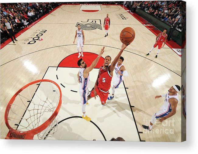 Nba Pro Basketball Acrylic Print featuring the photograph Rodney Hood by Cameron Browne