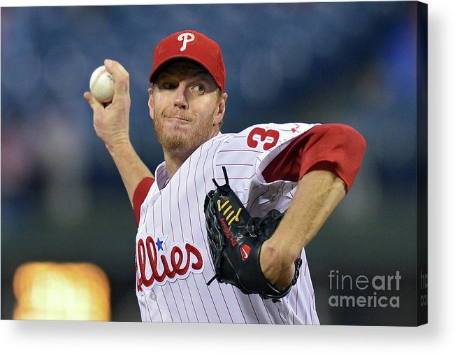 People Acrylic Print featuring the photograph Roy Halladay by Drew Hallowell