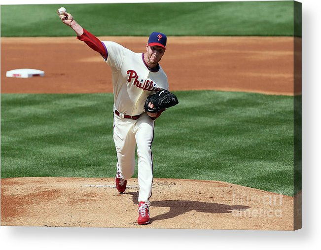 People Acrylic Print featuring the photograph Roy Halladay by Jim Mcisaac