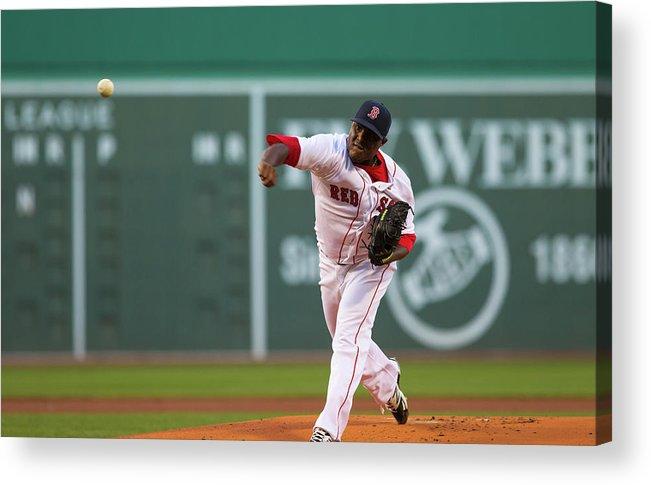 American League Baseball Acrylic Print featuring the photograph Rubby De La Rosa by Rich Gagnon