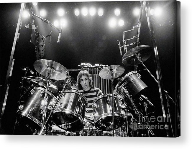 Rush Acrylic Print featuring the digital art Rush Neil Peart Poster by Trindira A