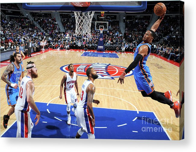Nba Pro Basketball Acrylic Print featuring the photograph Russell Westbrook by Chris Schwegler