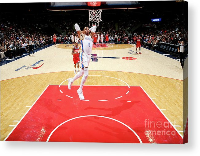Nba Pro Basketball Acrylic Print featuring the photograph Russell Westbrook by Ned Dishman