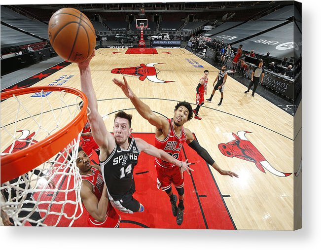 Nba Pro Basketball Acrylic Print featuring the photograph San Antonio Spurs vs. Chicago Bulls by Jeff Haynes