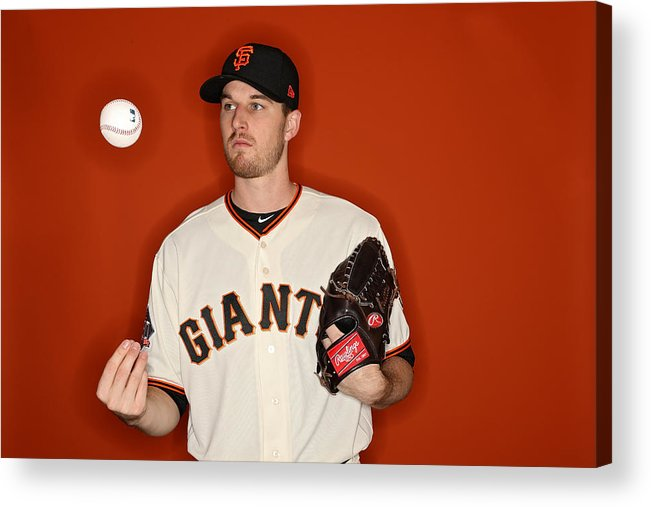 Media Day Acrylic Print featuring the photograph San Francisco Giants Photo Day by Patrick Smith