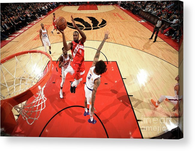 Nba Pro Basketball Acrylic Print featuring the photograph Serge Ibaka by Ron Turenne