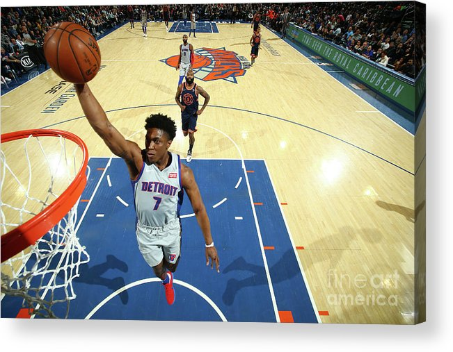 Nba Pro Basketball Acrylic Print featuring the photograph Stanley Johnson by Nathaniel S. Butler