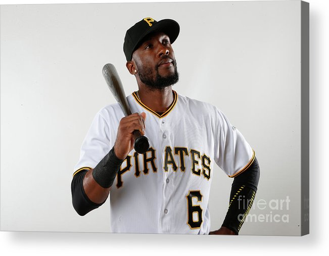 Media Day Acrylic Print featuring the photograph Starling Marte by Brian Blanco
