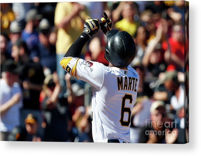 People Acrylic Print featuring the photograph Starling Marte by Justin K. Aller
