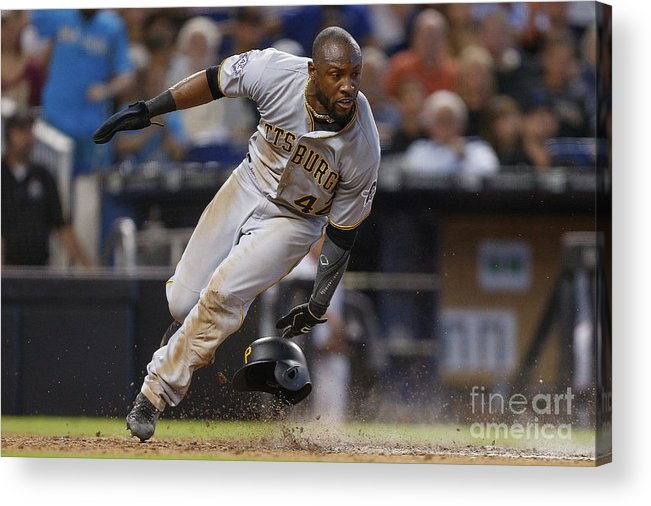 People Acrylic Print featuring the photograph Starling Marte by Michael Reaves