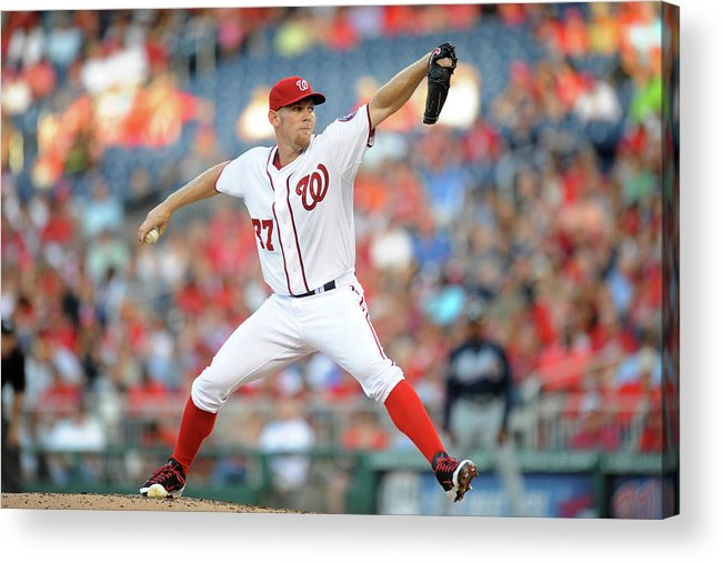 Second Inning Acrylic Print featuring the photograph Stephen Strasburg by Mitchell Layton
