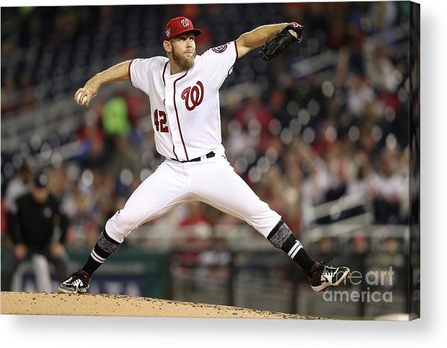 Working Acrylic Print featuring the photograph Stephen Strasburg by Patrick Smith
