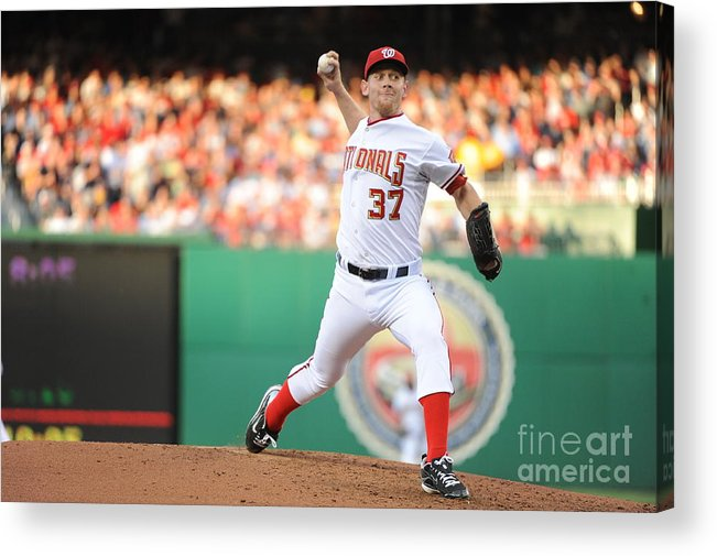 Stephen Strasburg Acrylic Print featuring the photograph Stephen Strasburg by Rich Pilling