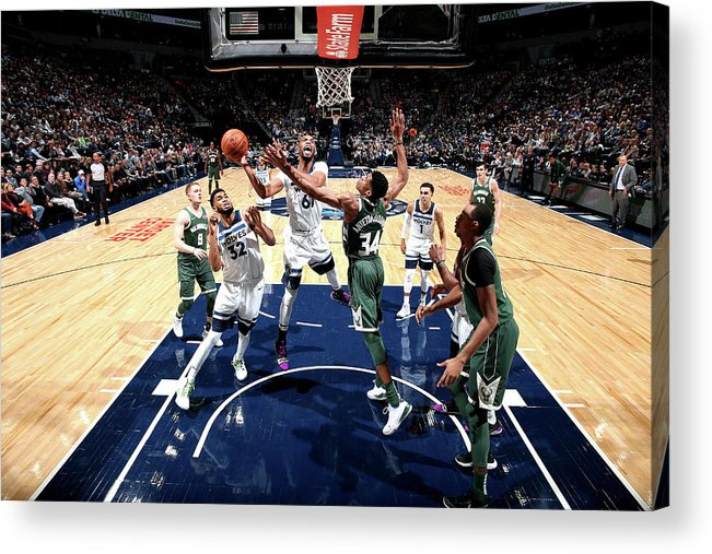 Nba Pro Basketball Acrylic Print featuring the photograph Taj Gibson by David Sherman