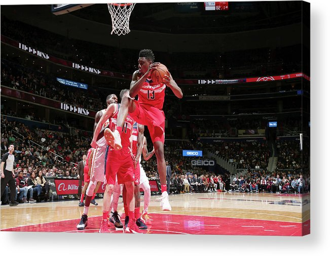 Nba Pro Basketball Acrylic Print featuring the photograph Thomas Bryant by Ned Dishman