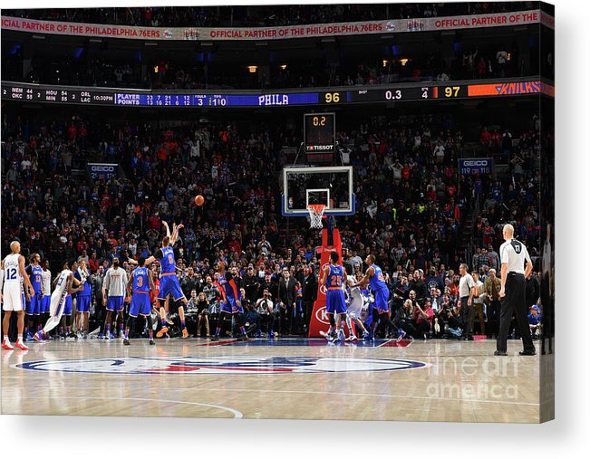 Nba Pro Basketball Acrylic Print featuring the photograph T.j. Mcconnell by Jesse D. Garrabrant