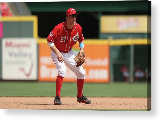 Great American Ball Park Acrylic Print featuring the photograph Todd Frazier by Andy Lyons