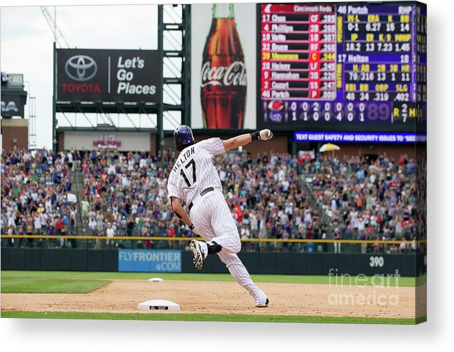 2nd Base Acrylic Print featuring the photograph Todd Helton by Dustin Bradford