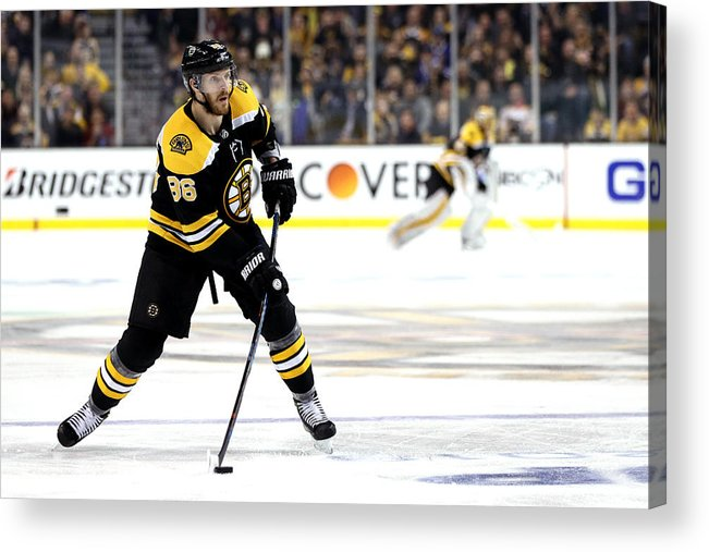 Playoffs Acrylic Print featuring the photograph Toronto Maple Leafs v Boston Bruins - Game Seven by Maddie Meyer