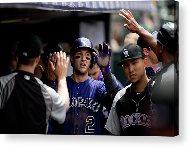 Second Inning Acrylic Print featuring the photograph Troy Tulowitzki by Justin Edmonds