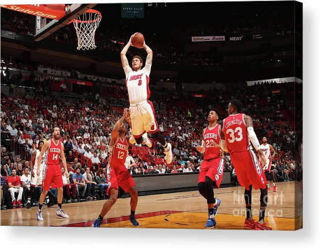 Nba Pro Basketball Acrylic Print featuring the photograph Tyler Johnson by Issac Baldizon