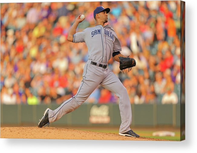 Home Base Acrylic Print featuring the photograph Tyson Ross by Justin Edmonds