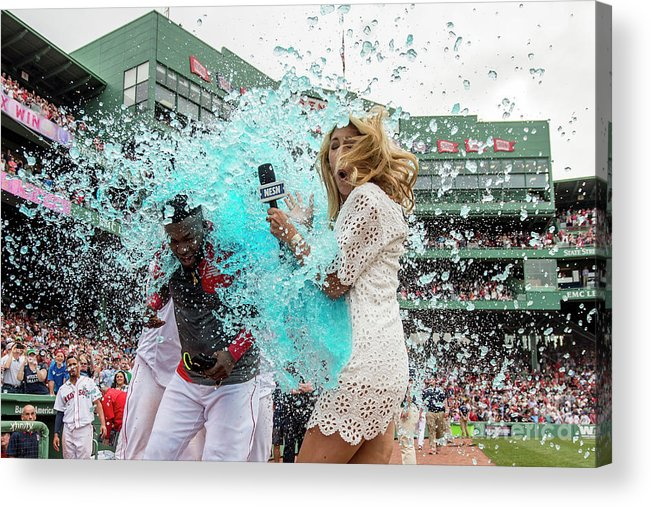 Three Quarter Length Acrylic Print featuring the photograph David Ortiz by Billie Weiss/boston Red Sox