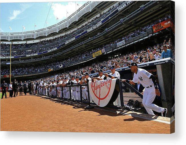 American League Baseball Acrylic Print featuring the photograph Derek Jeter by Al Bello