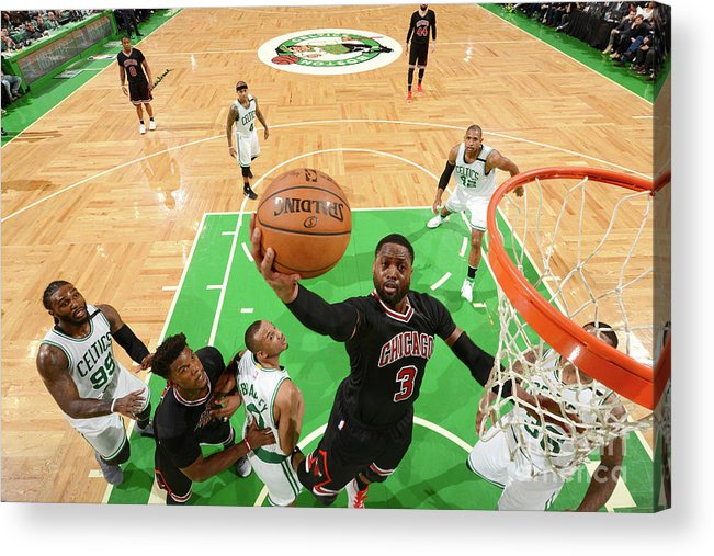 Playoffs Acrylic Print featuring the photograph Dwyane Wade by Jesse D. Garrabrant