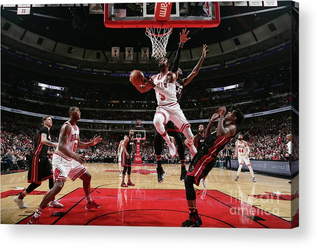Nba Pro Basketball Acrylic Print featuring the photograph Dwyane Wade by Nathaniel S. Butler