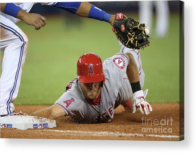 American League Baseball Acrylic Print featuring the photograph Edwin Encarnacion by Tom Szczerbowski