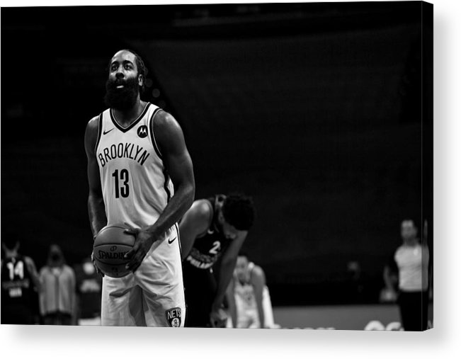 Nba Pro Basketball Acrylic Print featuring the photograph James Harden by Jesse D. Garrabrant