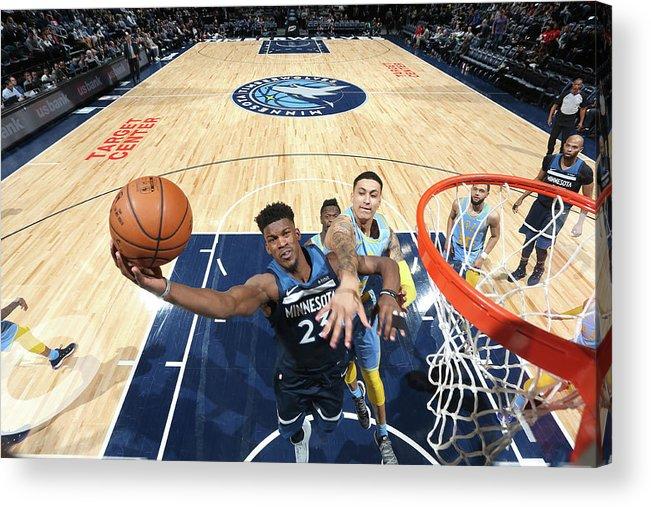Nba Pro Basketball Acrylic Print featuring the photograph Jimmy Butler by David Sherman