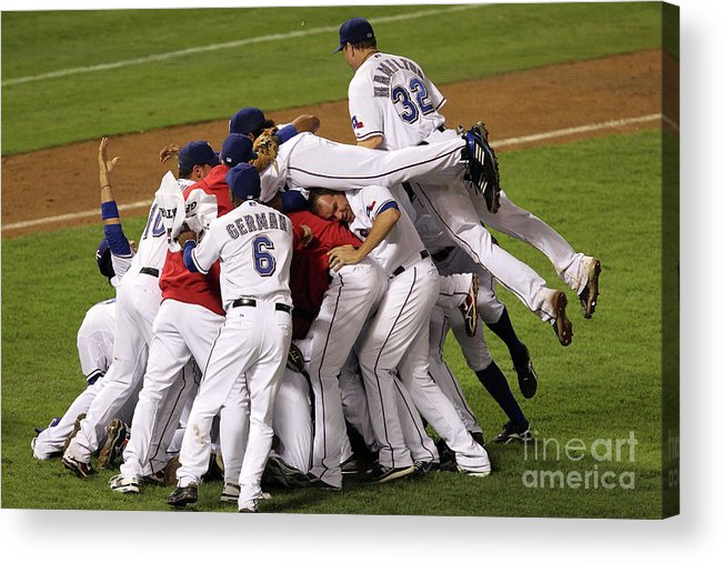 Playoffs Acrylic Print featuring the photograph Josh Hamilton by Ronald Martinez