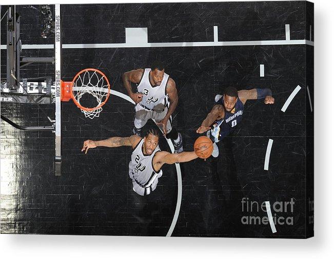 Playoffs Acrylic Print featuring the photograph Kawhi Leonard by Mark Sobhani