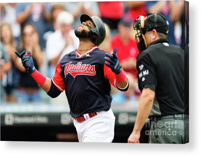 Second Inning Acrylic Print featuring the photograph Carlos Santana by Jason Miller