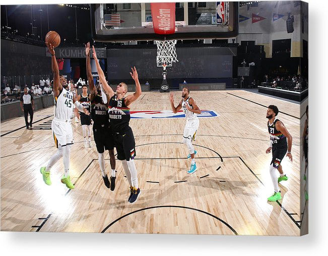 Playoffs Acrylic Print featuring the photograph Donovan Mitchell by Jesse D. Garrabrant