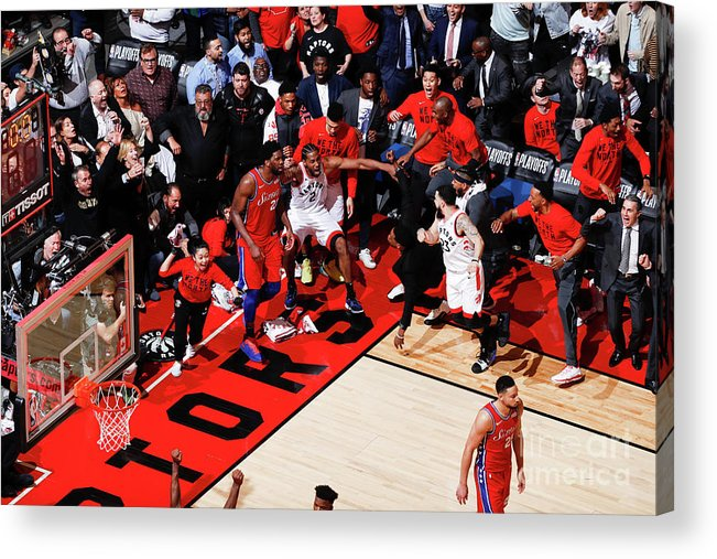 Playoffs Acrylic Print featuring the photograph Kawhi Leonard by Mark Blinch