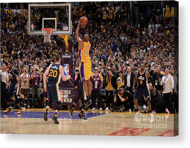 Nba Pro Basketball Acrylic Print featuring the photograph Kobe Bryant by Andrew D. Bernstein