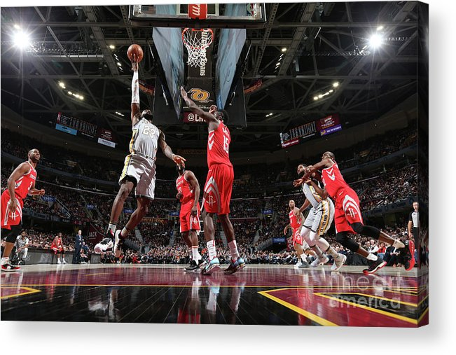 Nba Pro Basketball Acrylic Print featuring the photograph Lebron James by Joe Murphy