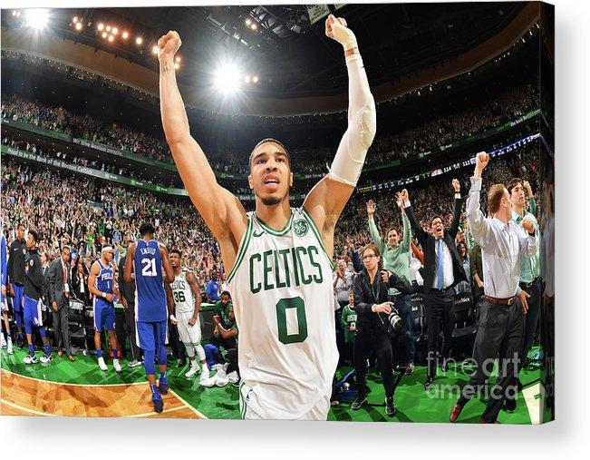 Playoffs Acrylic Print featuring the photograph Jayson Tatum by Jesse D. Garrabrant