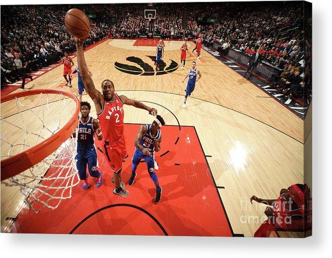 Nba Pro Basketball Acrylic Print featuring the photograph Kawhi Leonard by Ron Turenne