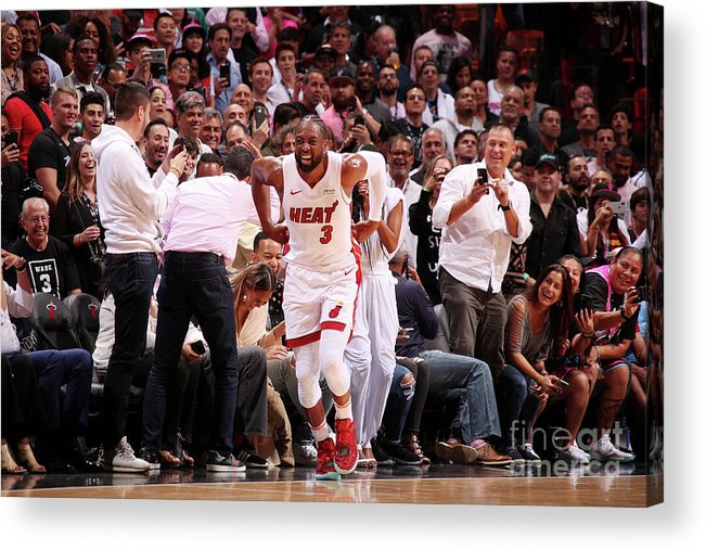 Nba Pro Basketball Acrylic Print featuring the photograph Dwyane Wade by Issac Baldizon