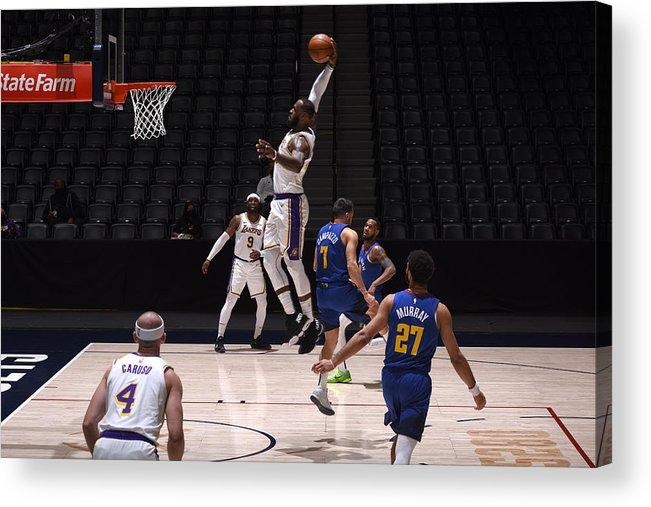 Nba Pro Basketball Acrylic Print featuring the photograph Lebron James by Garrett Ellwood