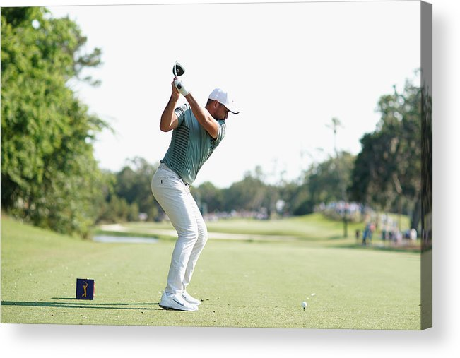 People Acrylic Print featuring the photograph THE PLAYERS Championship - Round One by Richard Heathcote