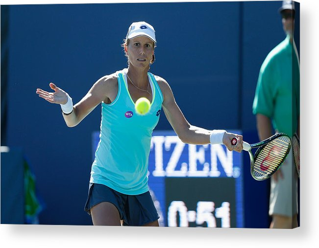 Tennis Acrylic Print featuring the photograph Bank of the West Classic - Day 2 by Lachlan Cunningham