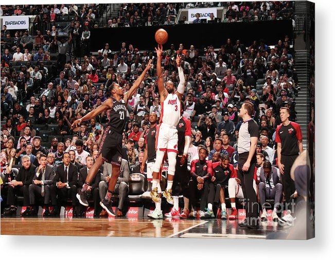 Nba Pro Basketball Acrylic Print featuring the photograph Dwyane Wade by Issac Baldizon