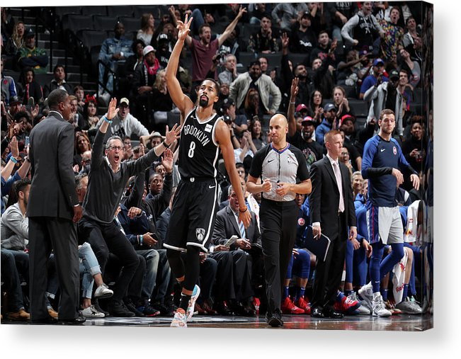 Nba Pro Basketball Acrylic Print featuring the photograph Spencer Dinwiddie by Nathaniel S. Butler
