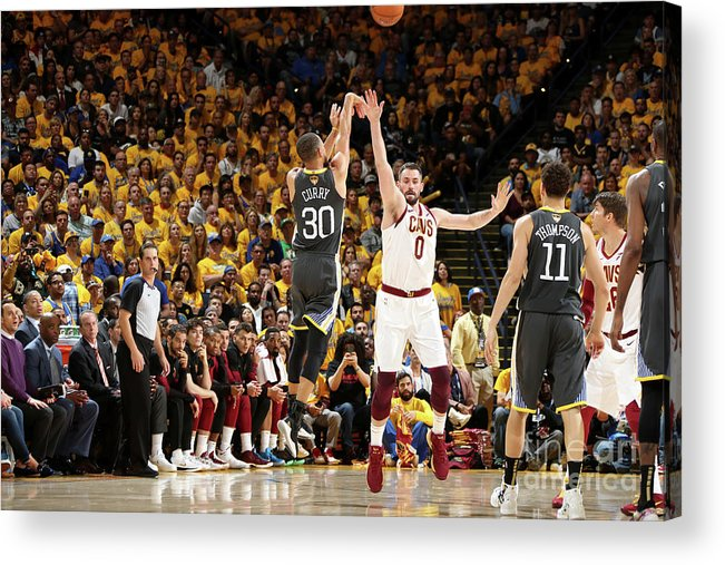 Playoffs Acrylic Print featuring the photograph Stephen Curry by Nathaniel S. Butler